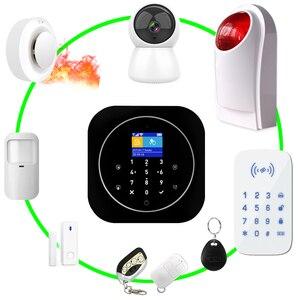 Image 4 - 홈 알람 시스템 와이파이 GSM 알람 인터콤 원격 제어 Autodial 433MHz 감지기 IOS 안드로이드 Tuya APP 제어 터치 키보드