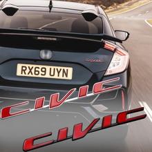 New 3D Metal Civic logo Emblem Rear Badge Car Trunk Sticker Car Styling for Honda Civic Mugen Accord Odyssey JAZZ CRV Fit