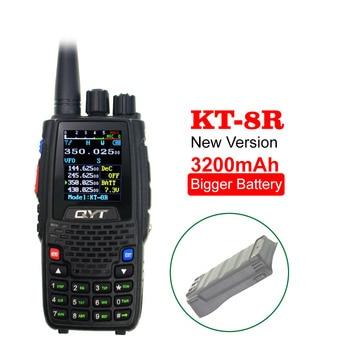 QYT Quad Band, KT-8R de mano, 4 bandas, 3200mAh, batería más grande, intercomunicador UV para exteriores, Radio bidireccional, transceptor KT8R con pantalla a Color de 5W