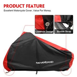 Image 3 - غطاء دراجة نارية كل موسم مقاوم للماء الغبار UV واقية في الهواء الطلق داخلي قفل ثقوب تصميم دراجة نارية المطر يغطي معطف D25
