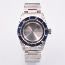 Watch Parts 41mm blue Bezel Watches Case 22mm band Brass Coated 316L S Steel belt  Fit ETA 2836/2824 Miyota8215 821A movement цена и фото