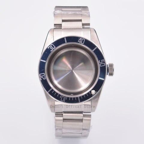 Peças de Relógio Azul Moldura Relógios Case 22mm Banda Bronze Revestido 316l s Cinto Aço Ajuste Eta 2836 – 2824 Miyota8215 821a Movimento 41mm