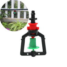 """200pcs Greenhouse Gardening Rotary Atomization Sprinkler With 1/4"""" Barbed Irrigation Equipment Automatic Watering Microsprinkler"""
