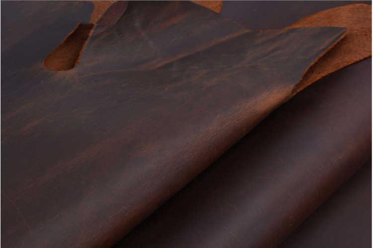 Skóra naturalna 2.0mm nowa skóra crazy horse skóra bydlęca pierwsza warstwa materiał skóra craft DIY żółty brązowy