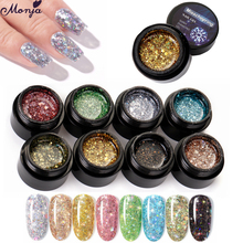 Manicure-Decoration-Tool Painting Sparkling-Glitter Nail-Art Shiny Colorful Crystal Monja