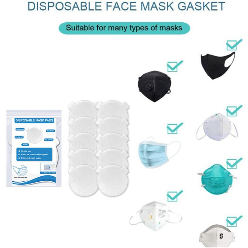 10/20pcs Disposable Anti Haze Mouth Mask Replaceable Filter-slice Non-woven Child Kids Mouth Mask Replacement Mask Filter