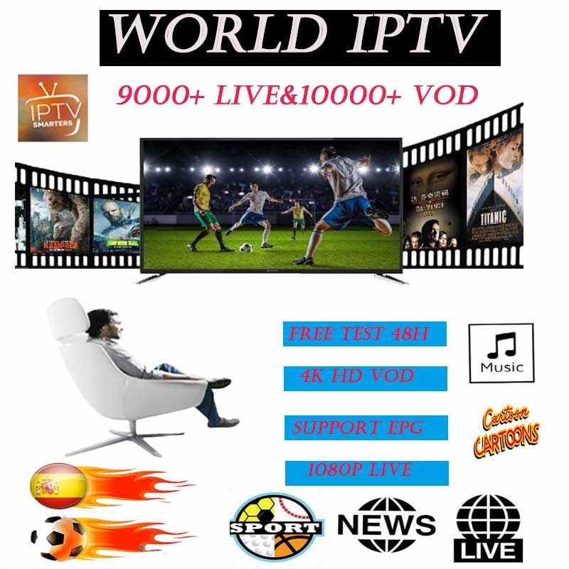Assinatura IPTV HD adulto 10000 VOD Europeia estável & 9000 + Mag M3u esportes ao vivo do canal ao vivo para Android livre julgamento 48H smart TV