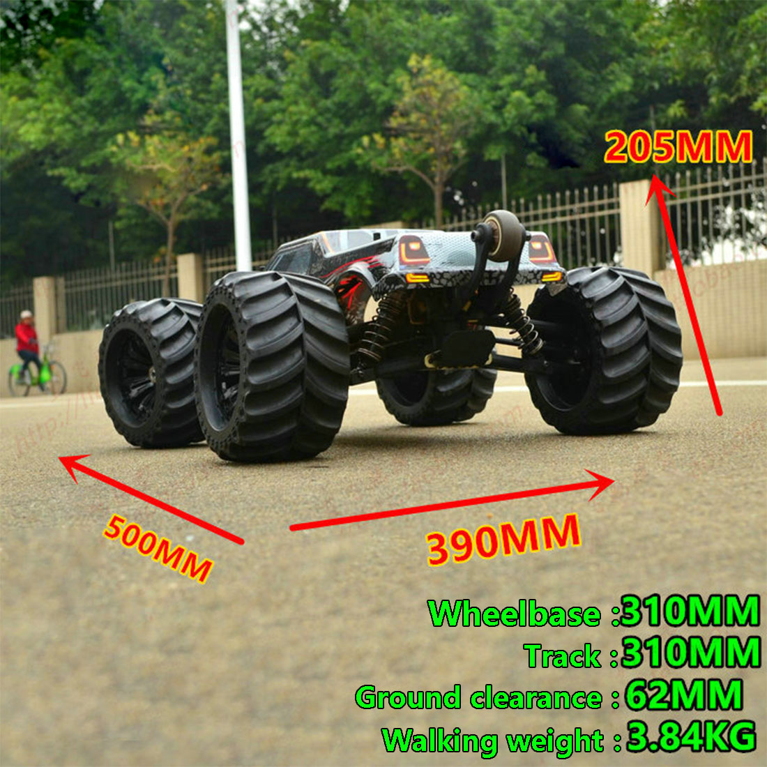 Jlb Racing 1:10 4WD Rc Borstelloze Monster Truck Off Road Voertuig Waterdichte Rc Auto Met Wheelie Functie Speelgoed Voor kid Rtr Versie - 6
