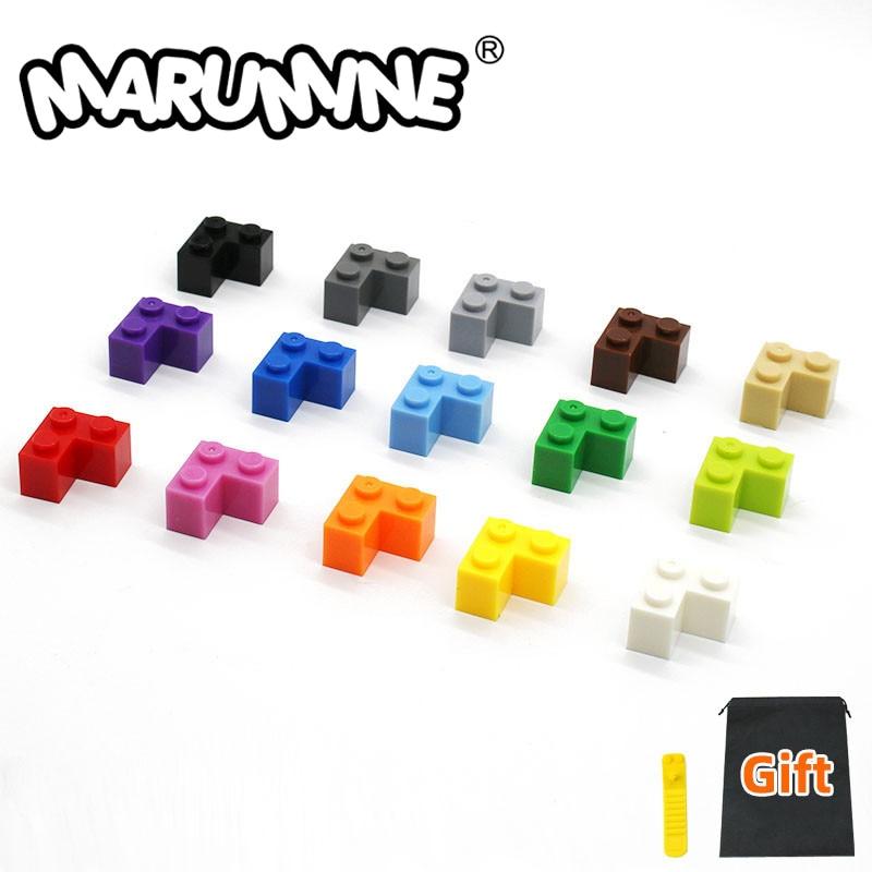MARUMINE  2x2 Corner Bricks 100PCS Classic Building Block Creator Toys MOC Construction Set Compatible Major Brand