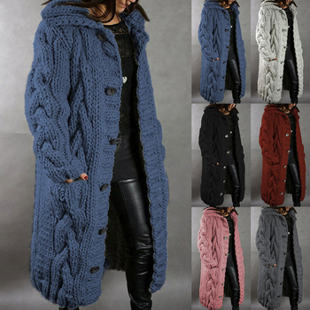2020 Long Cardigan Women Autumn Winter Bat Sleeve Knitted Sweater Plus Size Loose Ladies Solid Color Sweaters Coat S-5XL long cardigan women sweater autumn winter bat sleeve knitted sweater plus size jacket loose ladies sweaters coat plus size
