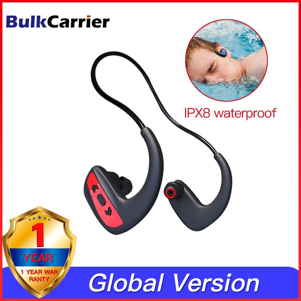 Проводные Bluetooth наушники спортивные IPX8 плавательный шейный Браслет Беспроводная игровая гарнитура стерео наушники металлические наушники с микрофоном|Наушники и гарнитуры|   | АлиЭкспресс