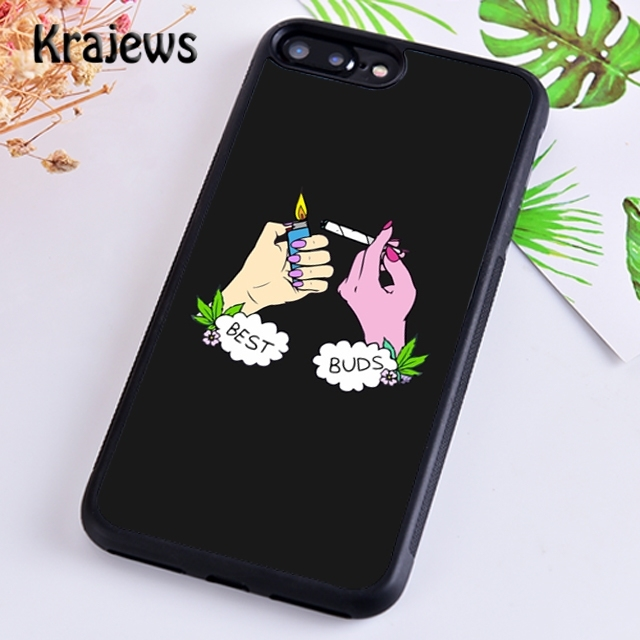 Krajews Hand Smoking Weed Best Buds Phone Case For Iphone 5s 6s 7 8 Plus X Xr Xs 11 12 Pro Max Samsung Galaxy S7 S8 S9 S10 Plus Phone Case Covers Aliexpress