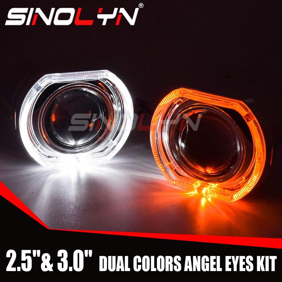 Sinolyn LED Angel Eyes Bi Xenon Projektor Scheinwerfer Objektiv 2.5/3,0 Platz Blinker Switch Laufende Lichter H4/h7 Auto Nachrüstung