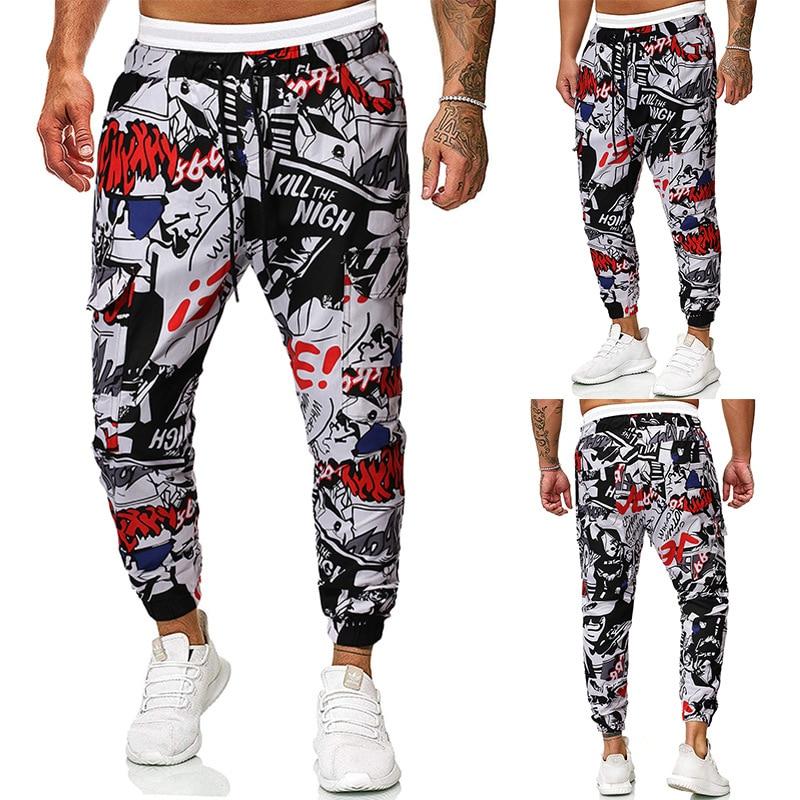 2019 Ouma Autumn And Winter New Style Men Fashion Graffiti Printed Casual Workwear Casual Trousers Batch