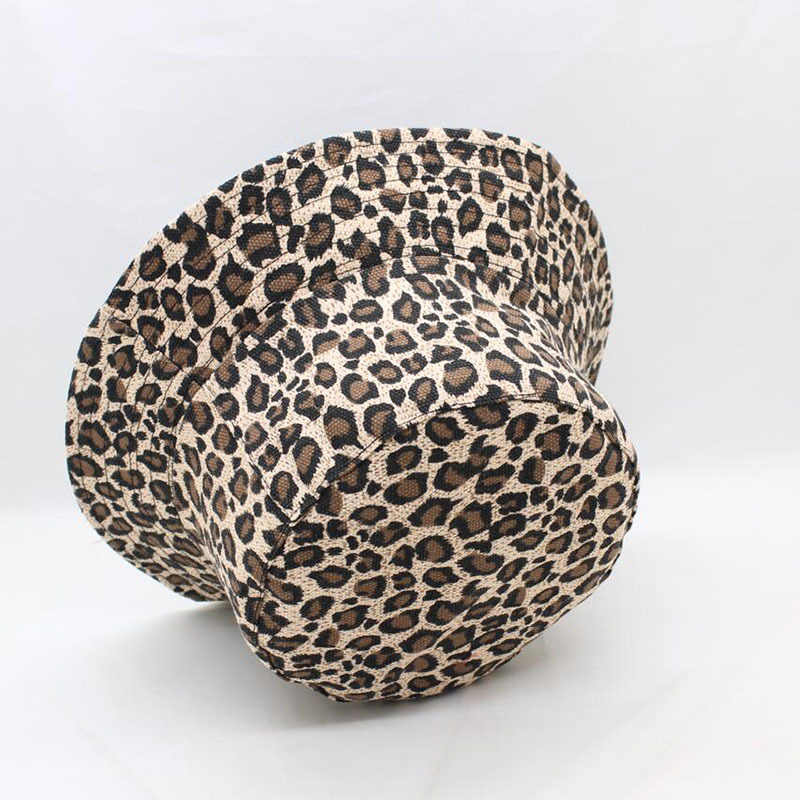 1PCs Leopard Print Bucket Hat Fisherman Hat Outdoor Travel Hat Sun Cap Hats Bonnet Summer Panama Hip Hop Cap for Men Women