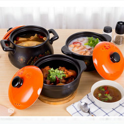 High Temperature Resistant Earthenware Soup Pot Soup Casserole Ceramic Open Flame Household Gas Clay Pot for cooking