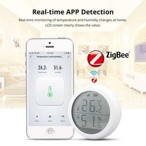 Image 2 - Tuya Zigbee Temperatur und Feuchtigkeit Sensor mit LCD Screen Display Mit batterie Home automation szene sicherheit alarm sensor