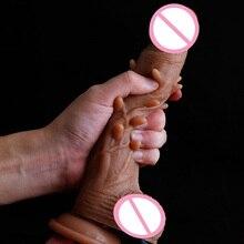 Двойной жидкий силиконовый имитирующий огромный мягкий петух женский с реалистичной кожей G Spot Happy enjoy реквизит