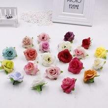 10 pçs artificial chá rosa bud pequena rosa flor cabeça flores para decoração de casamento grinalda scrapbooking diy artesanato falso flores