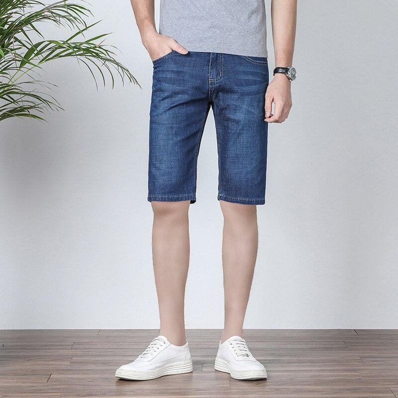 Summer Men'S Wear Lard-bucket Casual Jeans Plus-sized BOY'S Thin Shorts Versatile Stylish Loose Wear Denim Shorts