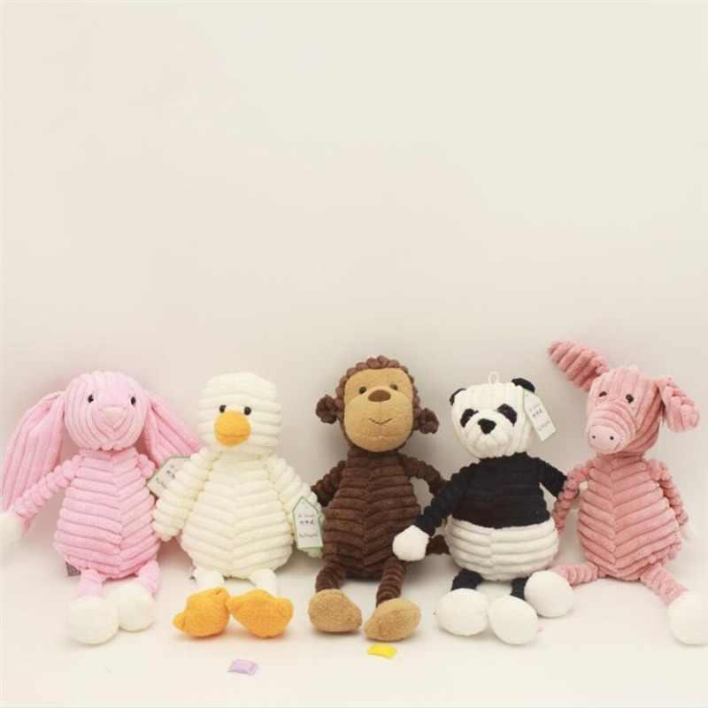 น่ารัก Torest ตุ๊กตาสัตว์ของเล่นเด็กทารกช้างสิงโต Fox กระต่ายหมูแพนด้าเป็ดลิงตุ๊กตาของเล่นเด็กหญิงของขวัญ
