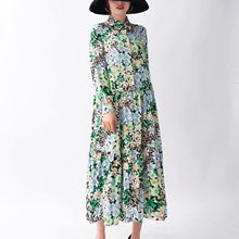 2020 New Spring Summer New Style European Collared Floral Printed Dress zaraing