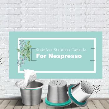 24 sztuk Nespresso kapsułki kawy ze stali nierdzewnej wielokrotnego napełniania Capsulas Nesspreso filtr do kawy wielokrotnego użytku puchar nowy DIY ekspres do kawy narzędzia tanie i dobre opinie dalinwell Metal Osiem częściowy zestaw YXA003-9 12 18 24 Permanent filters Refillable Capsule Cup Silver(Staniness Steel Nature Color