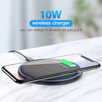 10W Qi Wireless Charger Mirror Wireless Charging Pad Cellphones & Telecommunications