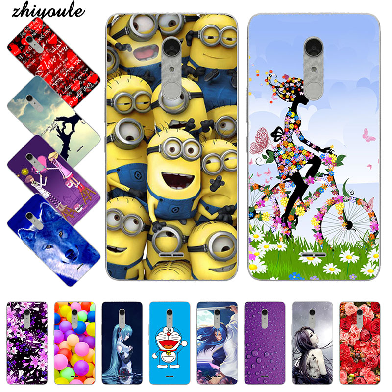 Phone <font><b>Case</b></font> For <font><b>Alcatel</b></font> <font><b>A3</b></font> <font><b>XL</b></font> 9008 9008D 9008X Cartoon Printing Flower Silicone Soft TPU Back Cover Coque Capa Funda image