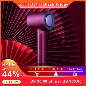 ZHIBAI High Speed Hair Dryer Innovative Frequency Conversion Wind Hair hair dryers  for Home Travel Dryer Portable kemei km 6830 portable mini hair dryer low noise evenly hot wind collapsible travel hair dryers 220v compact hair dryer 1200w