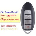 4 смарт-карта с кнопками для ключей для Nissan 315 МГц чип 370Z Cube Juke Pathfinder Rogue Versa 2008 2009 2010 2011 2012 CWTWBU729