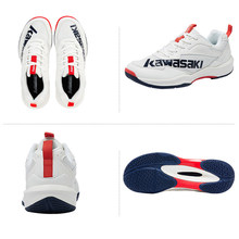 Kawasaki Professional Badminton Shoes 2021 Breathable Anti-Slippery Sport Shoes for Men Women Sneakers K-169D With Free Gift