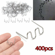 400pcs  0.8mm Stainless Steel Wave Flat Hot Staples Kit For Plastic Stapler Repair Welder Useful car replacement accessories