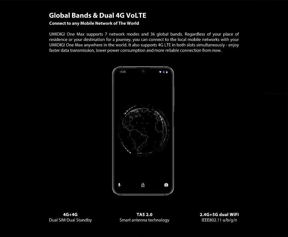 Global version UMIDIGI One 5.9 inch Dual 4G smartphone Helio P23 octa core 4GB 32GB Face ID Umi one