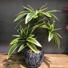 36cm 3 głowice Tropical palma sztuczne rośliny bambusowe fałszywe rośliny doniczkowe oddział plastikowe liście monstery na blat Deco
