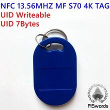 Перезапись NFC 13,56 МГц MF S70 UID 0 блок 7 байт сменная rfid-метка многофункциональная записываемая китайская Волшебная клавиатура копия клон