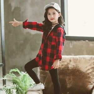 Image 4 - 女子校ブラウス秋春 2020 子供柄シャツ長袖レタープリントのためのトップス子供服