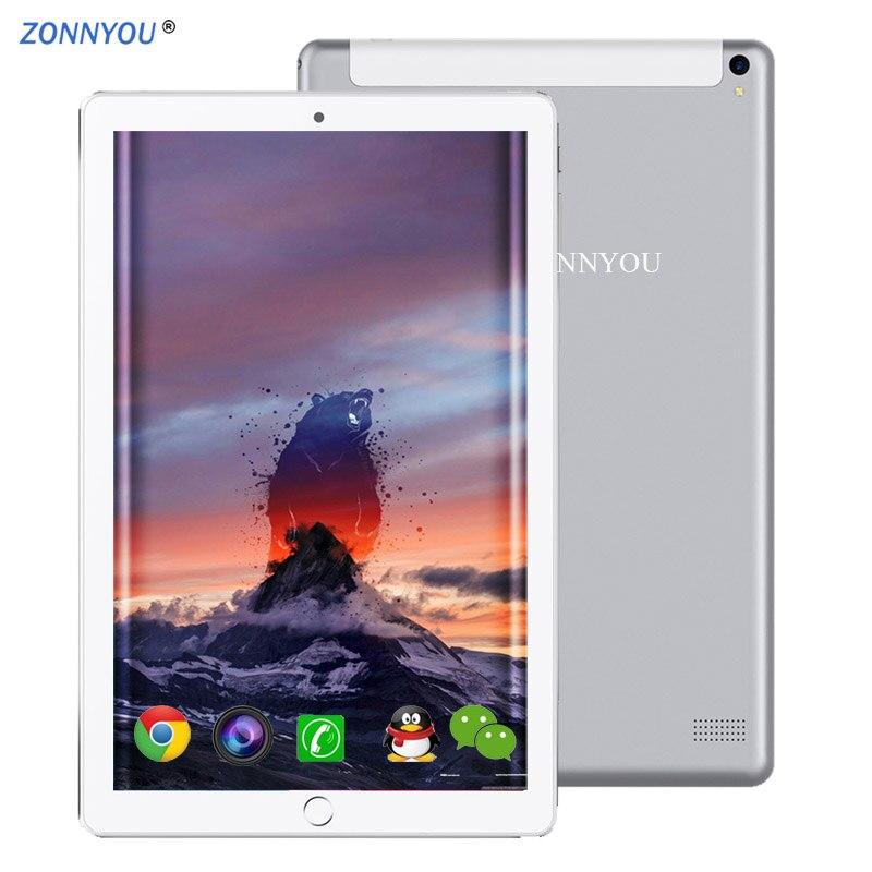 10.1 pouces tablette Android 8.0 4g/3G appel téléphonique 4 GB/64 GB Octa Core Wi-Fi Bluetooth double SIM 2.5D acier écran Support PC + couverture