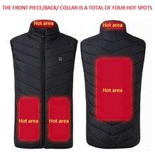3 температурная Регулировка USB электрическая куртка с подогревом Мужская зимняя уличная Лыжная рыболовная термо-жилет с подогревом женское пуховое пальто софтшелл