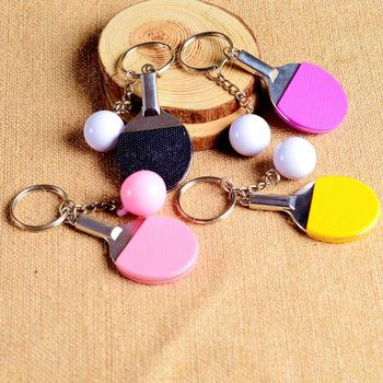 Creative Pingpong Shaped Keychain Cute Kawaii Ornaments Pendants Charming Party Favors Gifts image