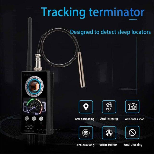 IR Laser RF Detector T9000 Anti Spy Cam Hidden Camera Scanner WiFi Signal GPS GSM Radio Phone Tracker Finder Private Security 2