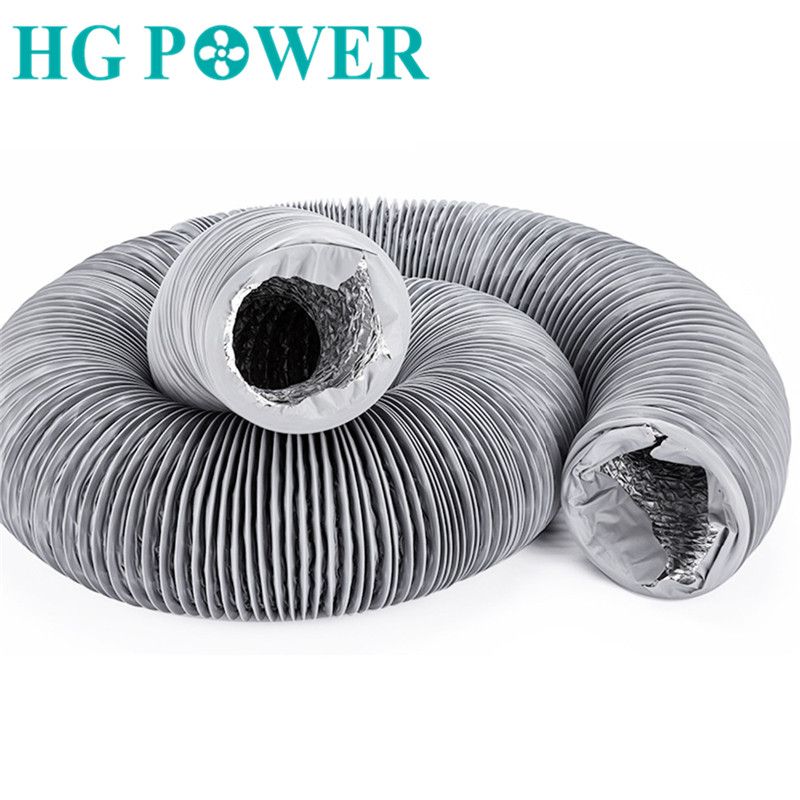 10m 4 8inch Flexible Aluminium Inline Duct Fan Home Ventilation Ducting Hose Tube PVC Round Pipe for Extractor Fan Air Condition in Vents from Home Improvement