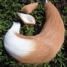 Anime Cosplay Props Fox Ears and Tail Set Spice and Wolf Holo Plush Long Fur Neko Ears Tail Party Halloween Costume Accessories