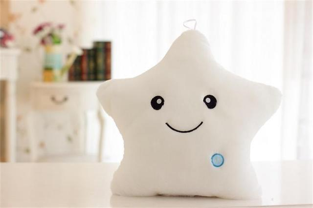 5 Colors Luminous Pillow Star Cushion Colorful Glowing Pillow Plush Doll Star Led Light Toys For Girl Kids  Gift