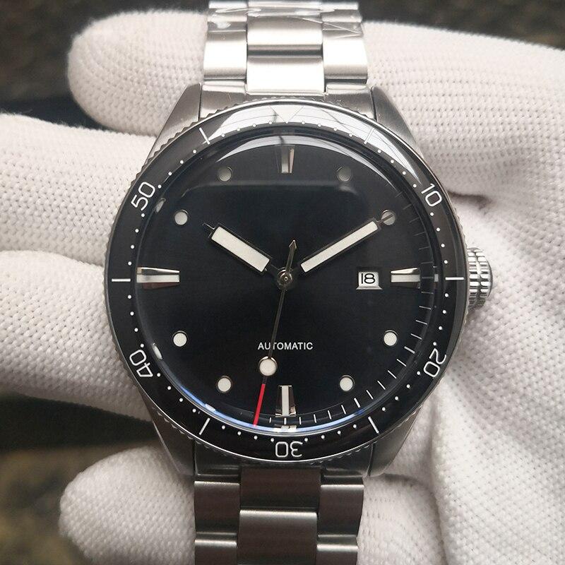 50m/165Ft WR Sterile Dial Custom Luxury Men Watches Automatic Mechanical 43.8MM Sport Fathoms Fifty Wristwatch Steel Bracelet