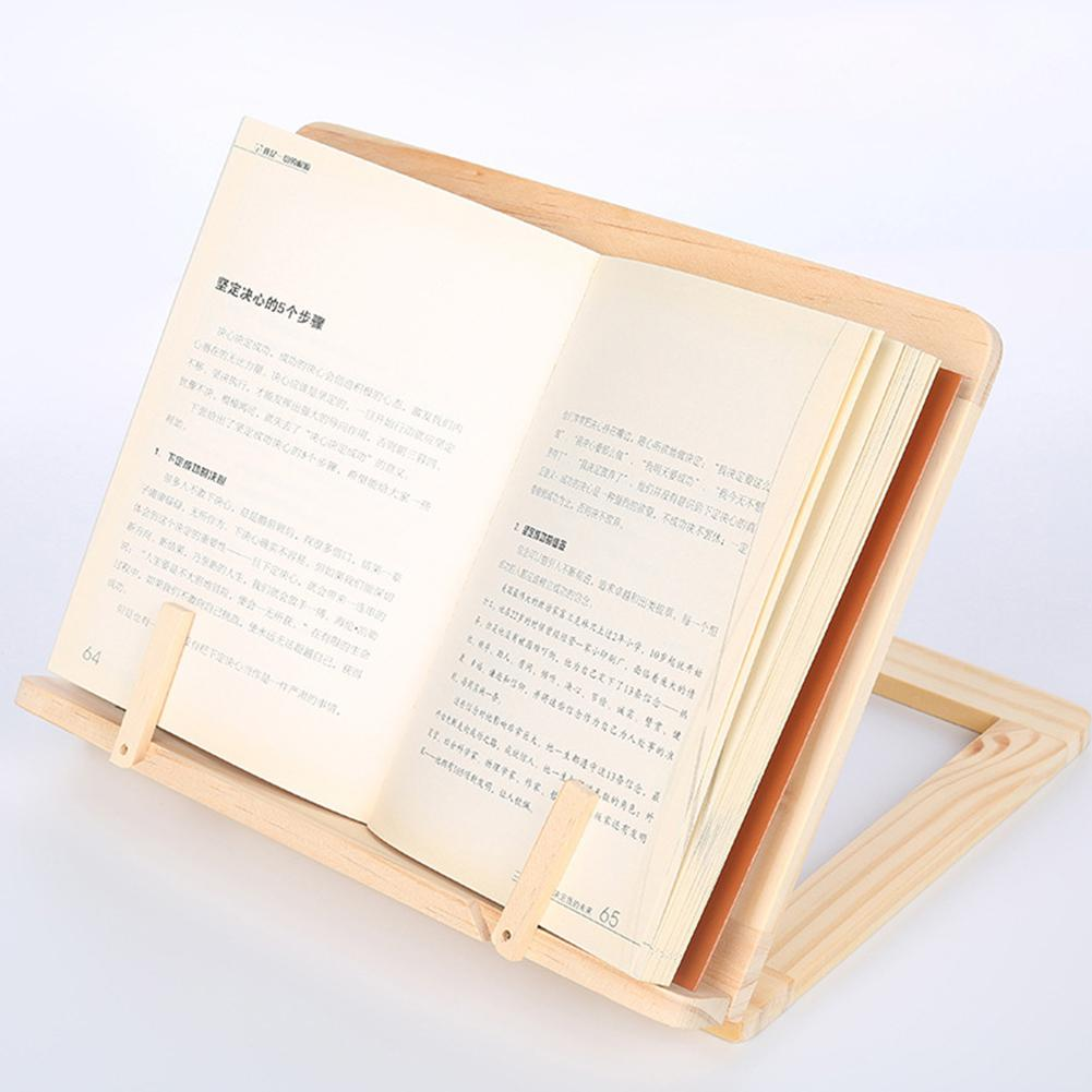 Adeeing Wooden Book Reading Stand Portable Multifunction Wooden Book Reading Stand Tablet PC Holder D25