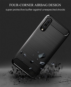 Image 5 - Karbon yumuşak silikon telefon kılıfı için Samsung Galaxy A50 A10 A20 A30 A40 A70 M20 M30 M40 Fiber kapak tampon galaxyA50 galaxy 2019