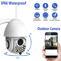 200W Security HD 1080P IP Camera wireless outdoor New 17LED 2MP high speed CCTV IR Camera with sound and light alarm function