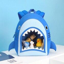 3D rysunkowy rekin torby szkolne dla chłopców dziewcząt duże usta Shark wodoodporne torby dla dzieci plecaki szkolne dla dzieci Mochila Infantil