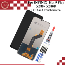 """ocolor For INFINIX Hot 9 Play Hot 9 LCD Display And Touch Screen Digitizer Assembly 6.82""""For INFINIX X680 X680B Replacement"""